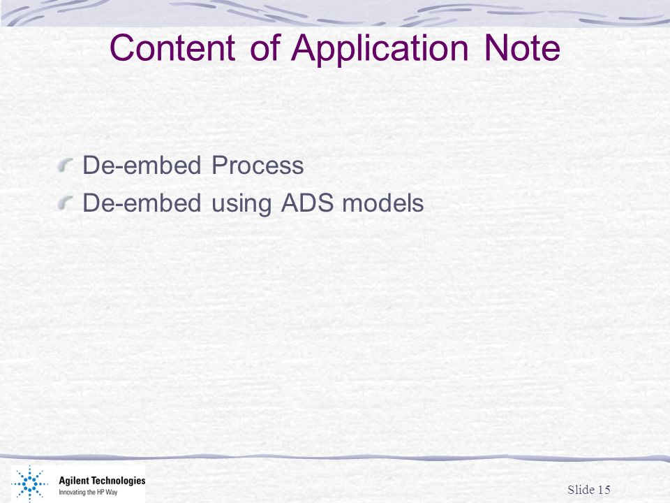 Content of Application Note