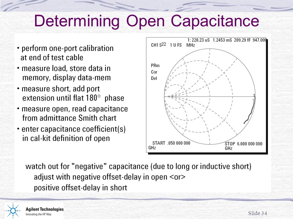 Determining Open Capacitance