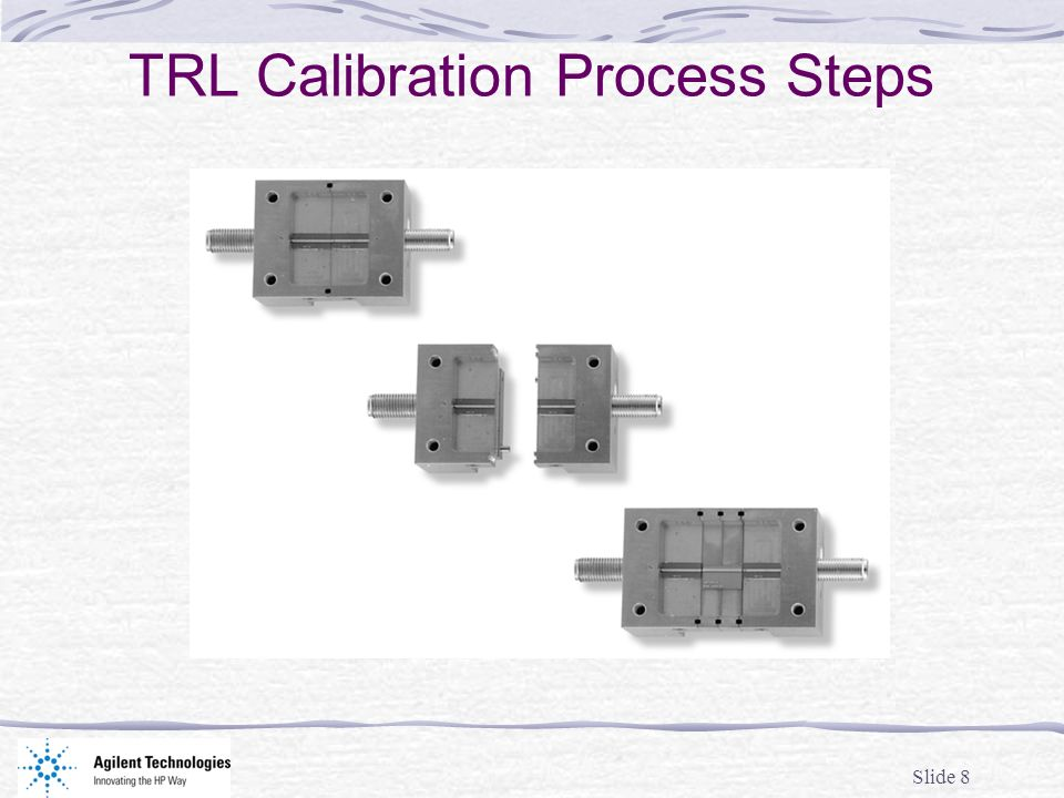 TRL Calibration Process Steps