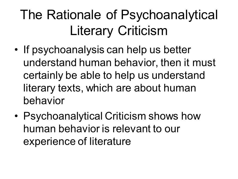 psychoanalysis in literature examples