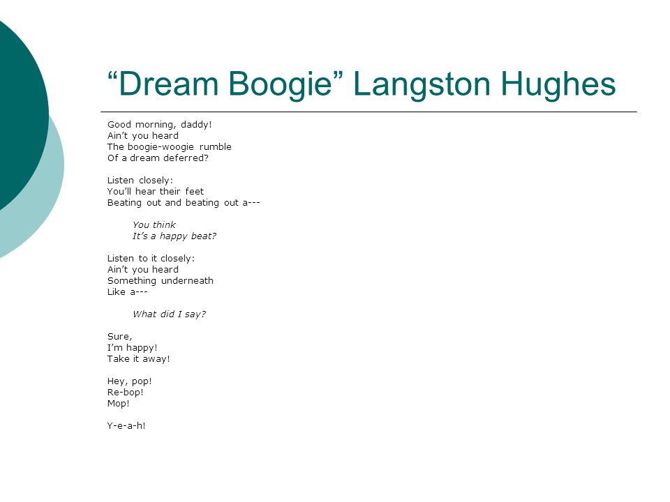 summary of the poem necessity by langston hughes