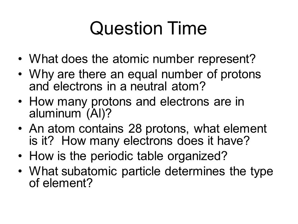 How atoms differ ppt download question time what does the atomic number represent urtaz Choice Image
