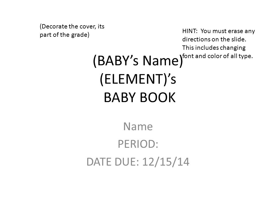 Babys name elements baby book ppt download babys name elements baby book urtaz Images