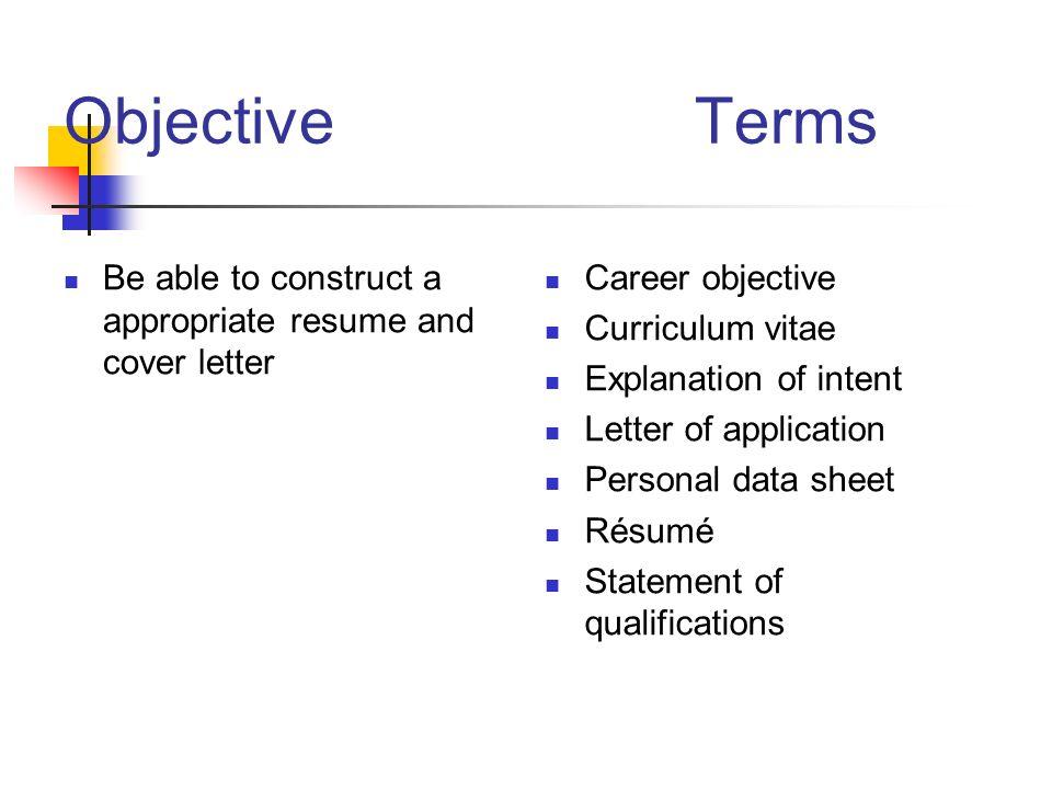 writing a résumé and cover letter ppt download