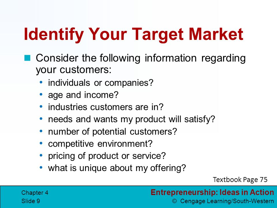 Identify Your Target Market