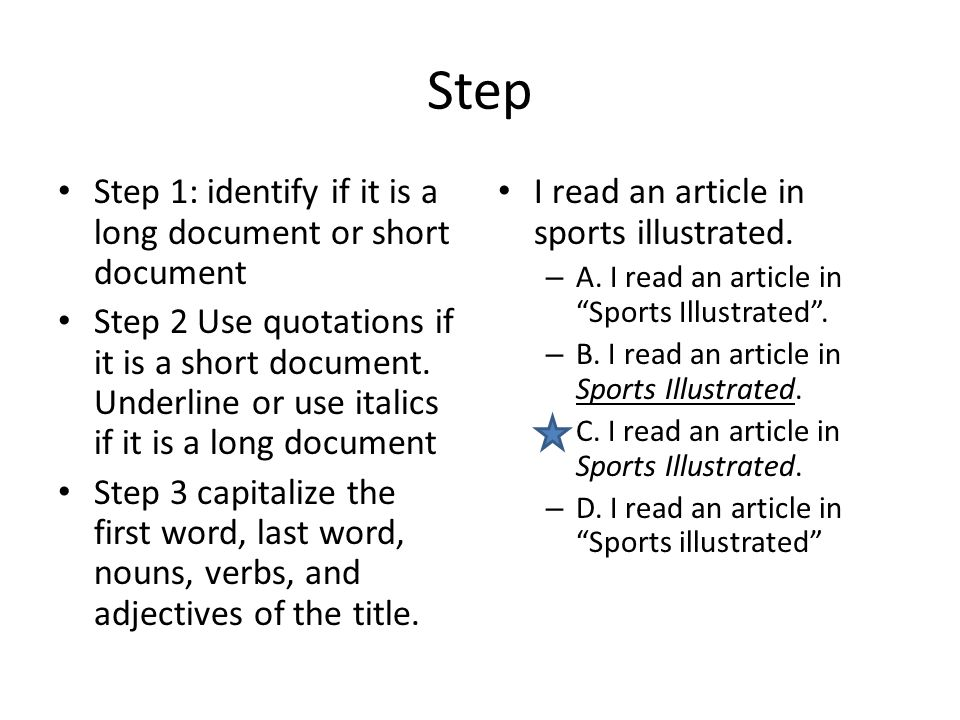 Step Step 1: identify if it is a long document or short document