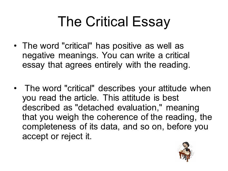 how to write a critical essay step by step