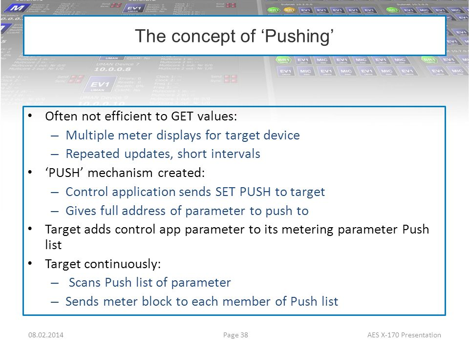 The concept of 'Pushing'