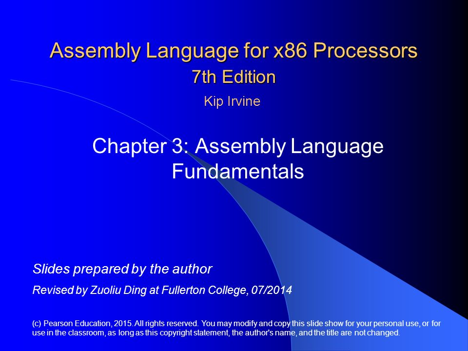 Assembly Language for x86 Processors 7th Edition - ppt download