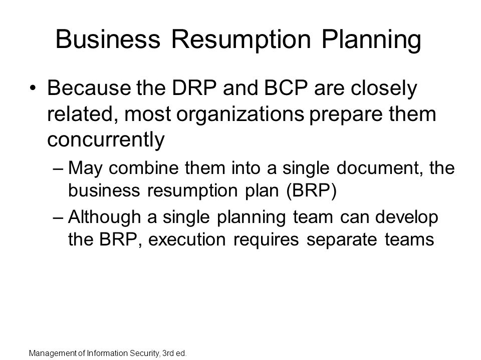 Planning for contingencies ppt download business resumption planning accmission Gallery