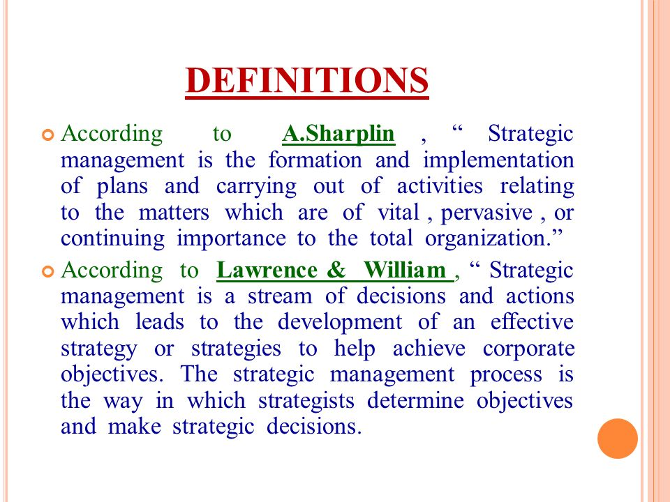 importance of strategic management in an organisation pdf