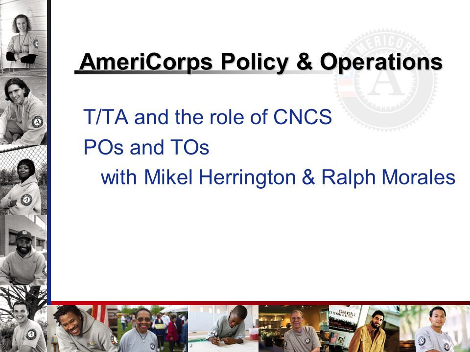 AmeriCorps Policy & Operations