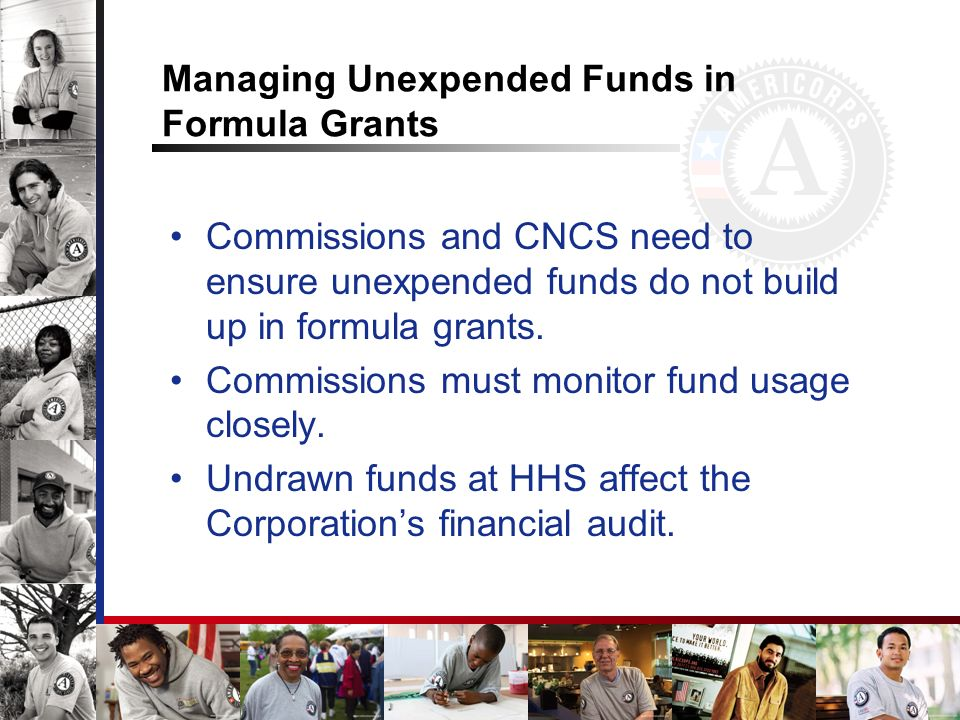 Managing Unexpended Funds in Formula Grants