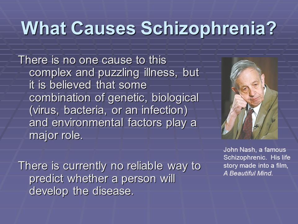 What Causes Schizophrenia