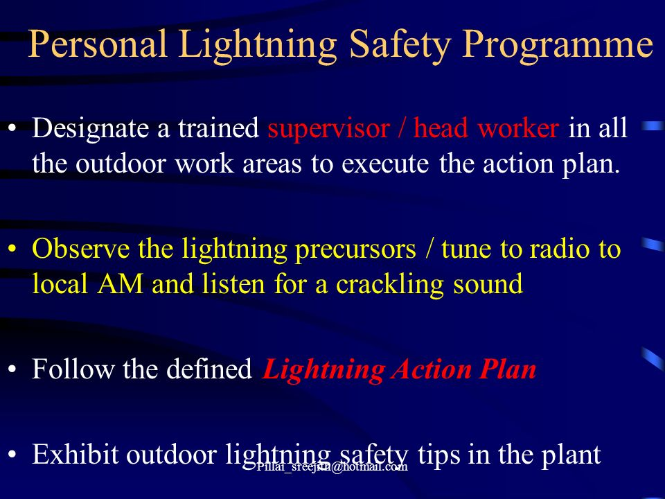 Personal Lightning Safety Programme