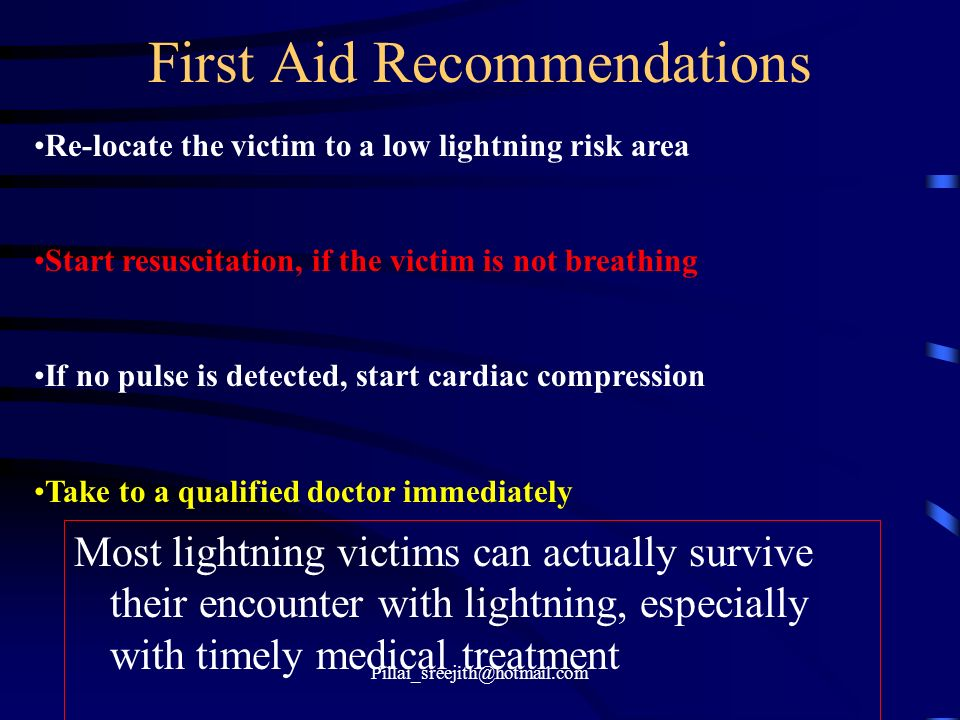 First Aid Recommendations