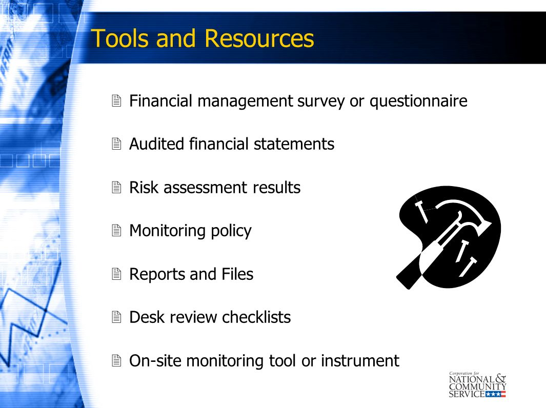 Tools and Resources Financial management survey or questionnaire