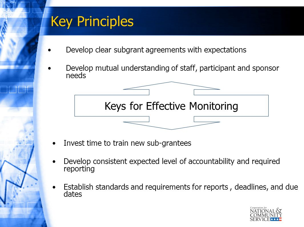 Keys for Effective Monitoring