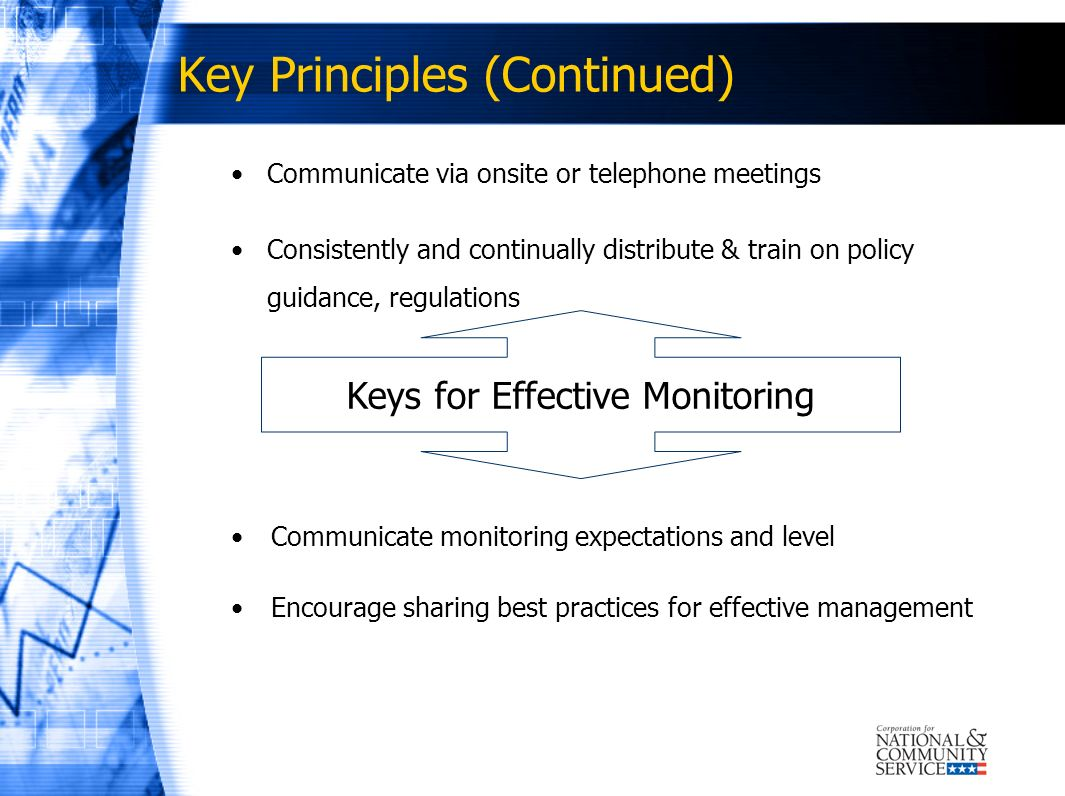 Key Principles (Continued)