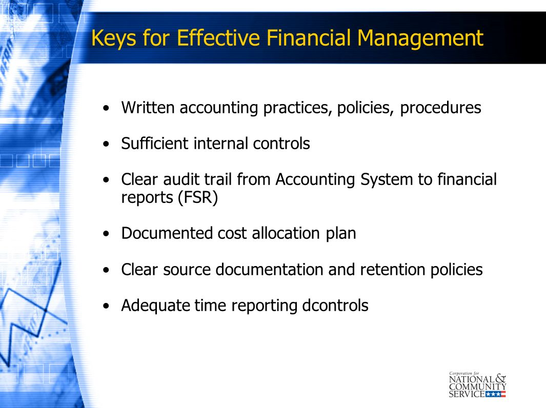 Keys for Effective Financial Management