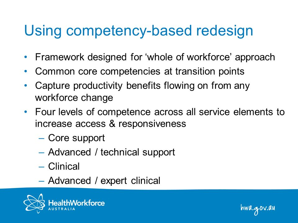 Using competency-based redesign