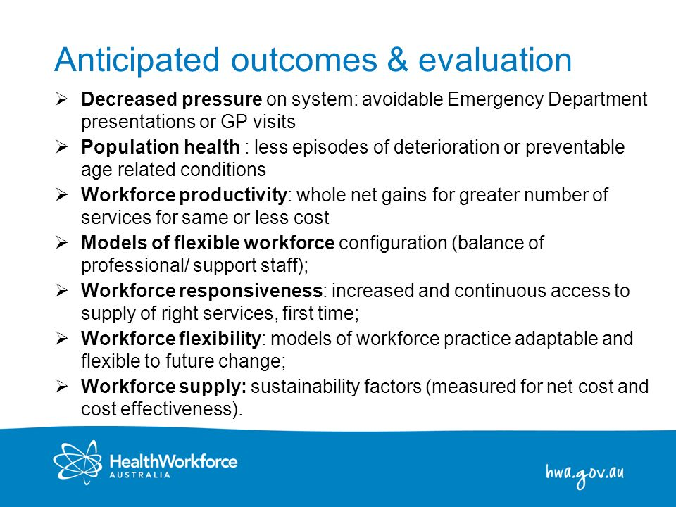 Anticipated outcomes & evaluation