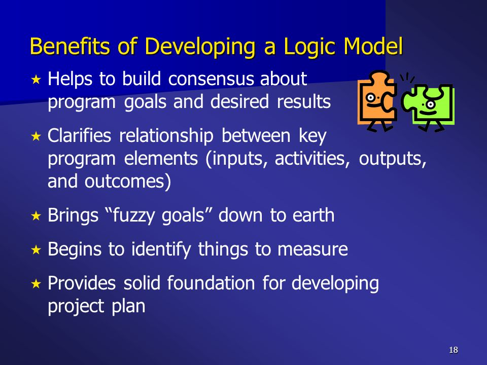 Benefits of Developing a Logic Model
