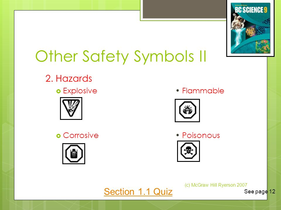 11 Safety In The Science Classroom Ppt Video Online Download