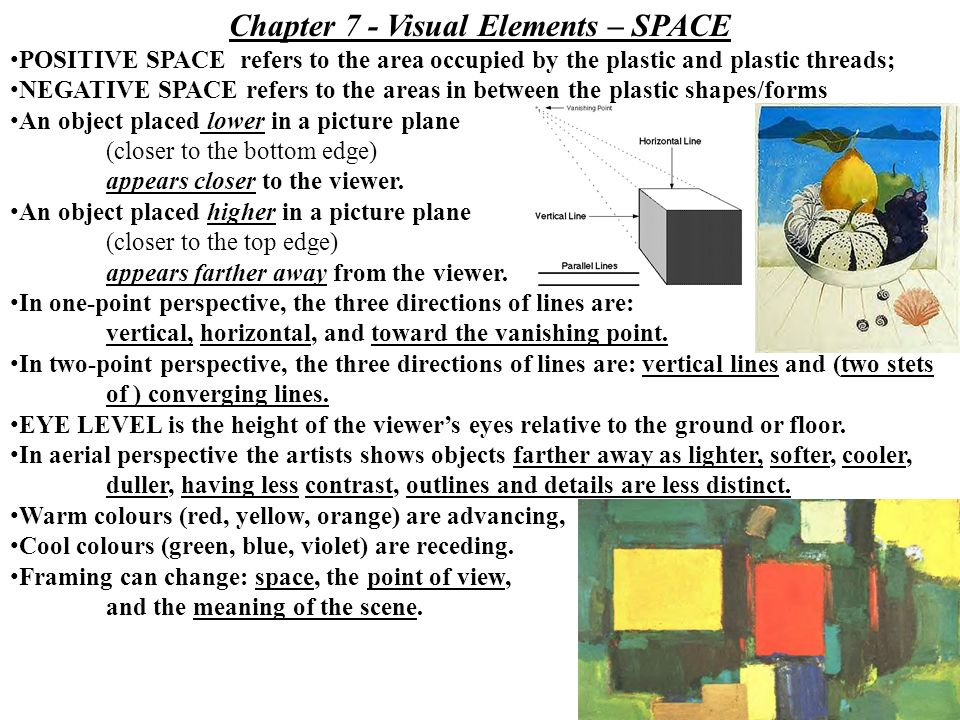Elements Of Art Space Definition : Elements of art test chapter seeing wondering