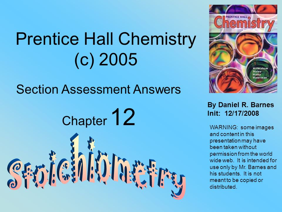 Prentice Hall Chemistry C Ppt Download