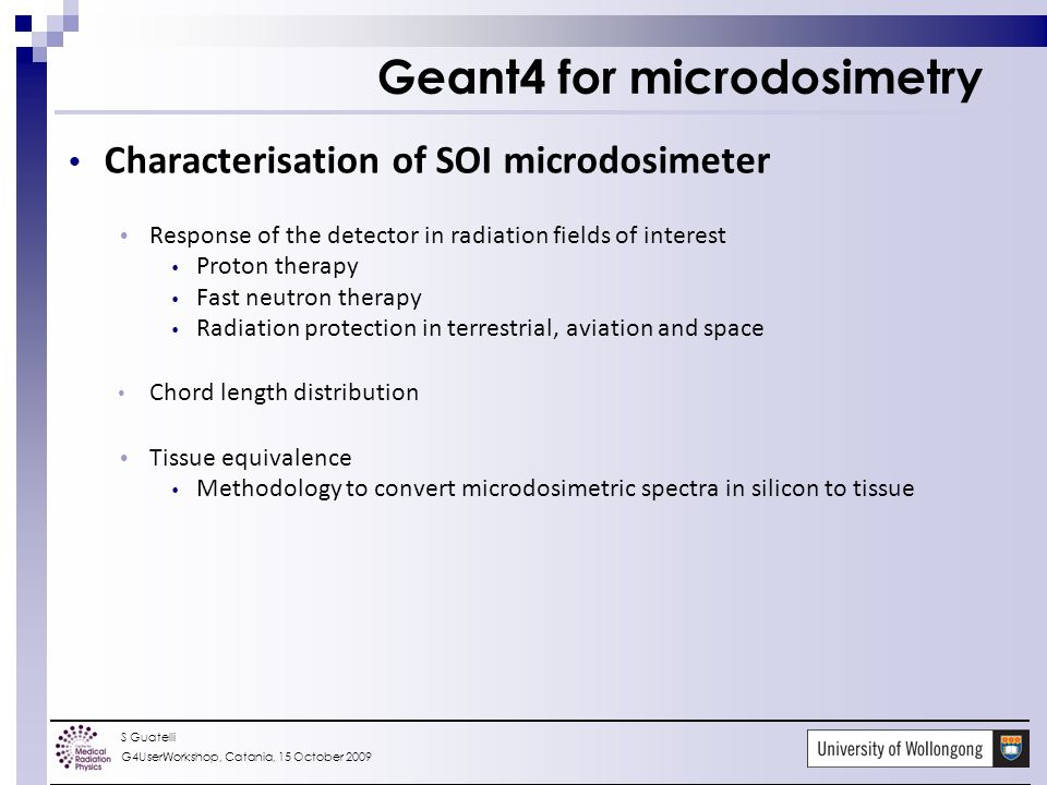 SOI detector Geant4-based studies to characterise the tissue