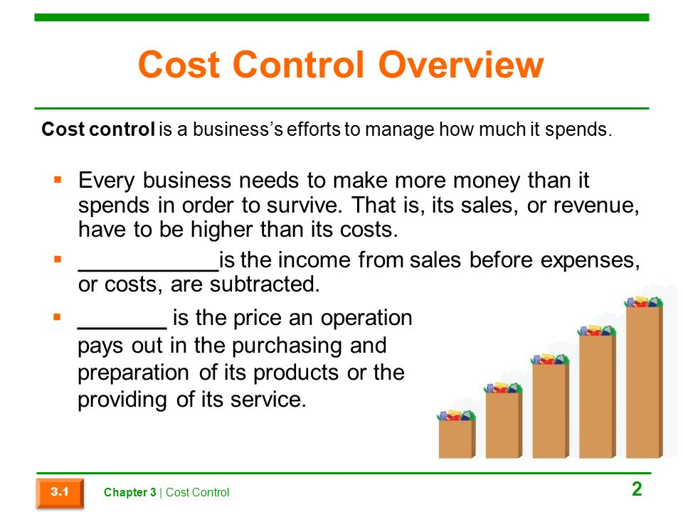 Chapter 3 cost control. Ppt download.