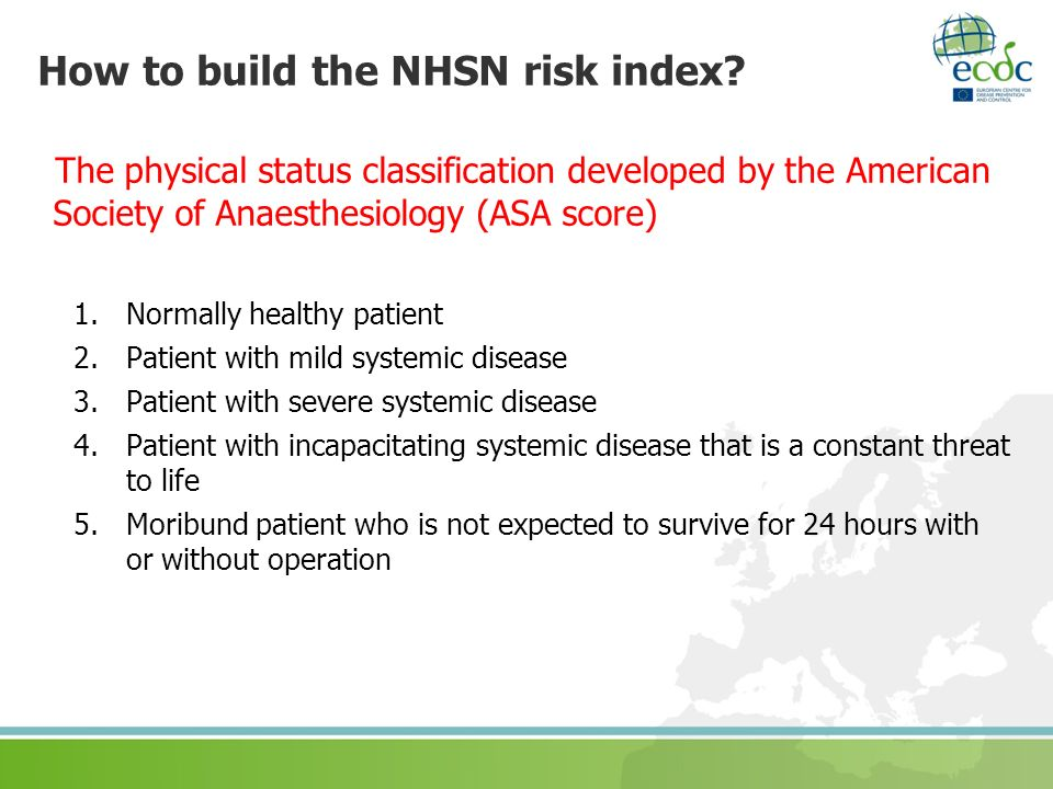 How to build the NHSN risk index