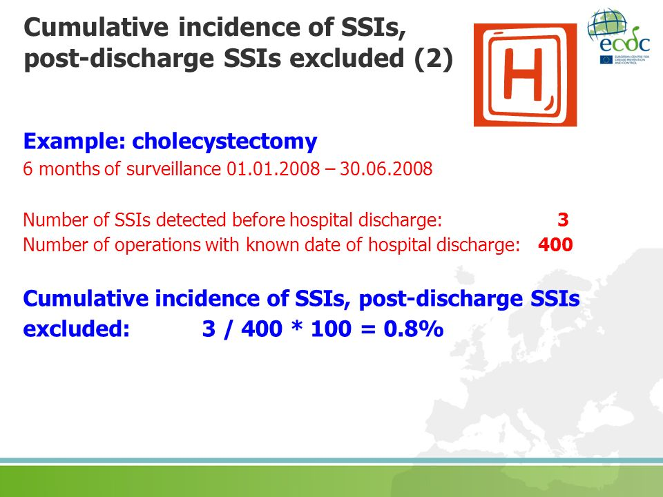 Cumulative incidence of SSIs, post-discharge SSIs excluded (2)