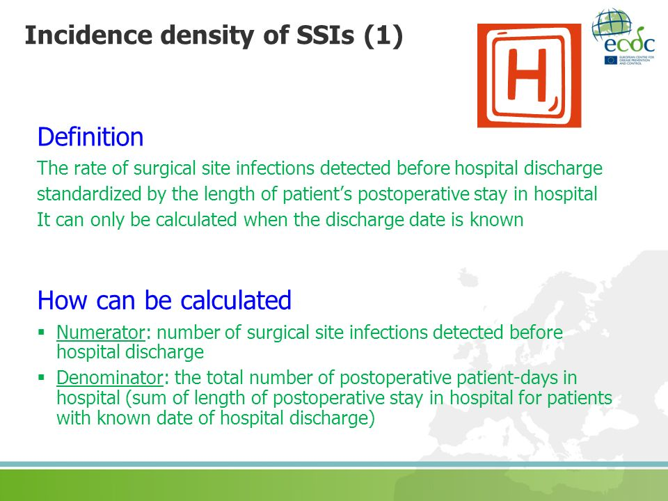 Incidence density of SSIs (1)