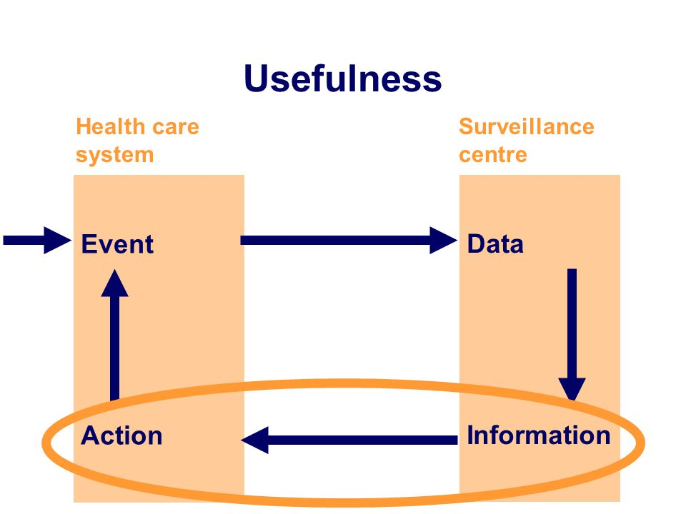 Usefulness Event Action Data Information Health care system
