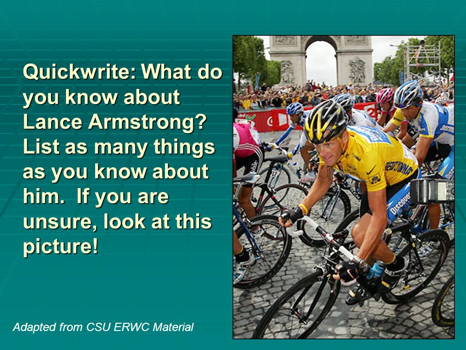 Lance armstrong hero or villain?