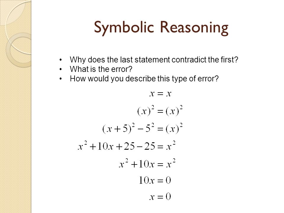 Algebraic And Symbolic Reasoning Ppt Video Online Download