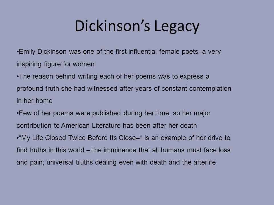 my life closed twice emily dickinson analysis