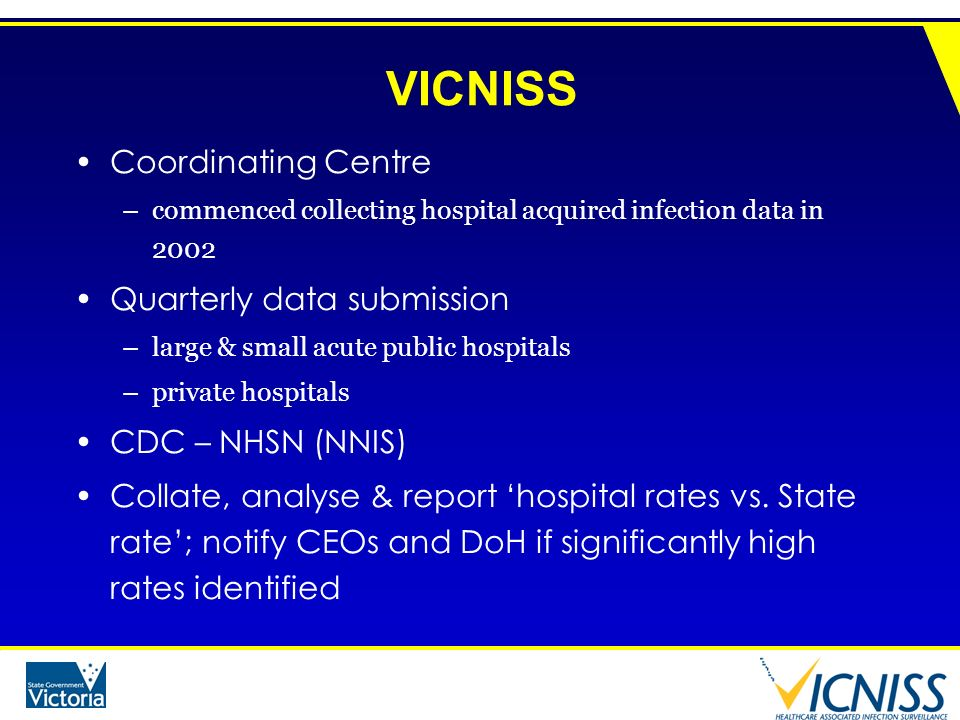 VICNISS Coordinating Centre Quarterly data submission