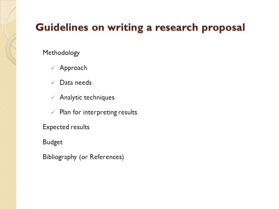 methodology of research proposal