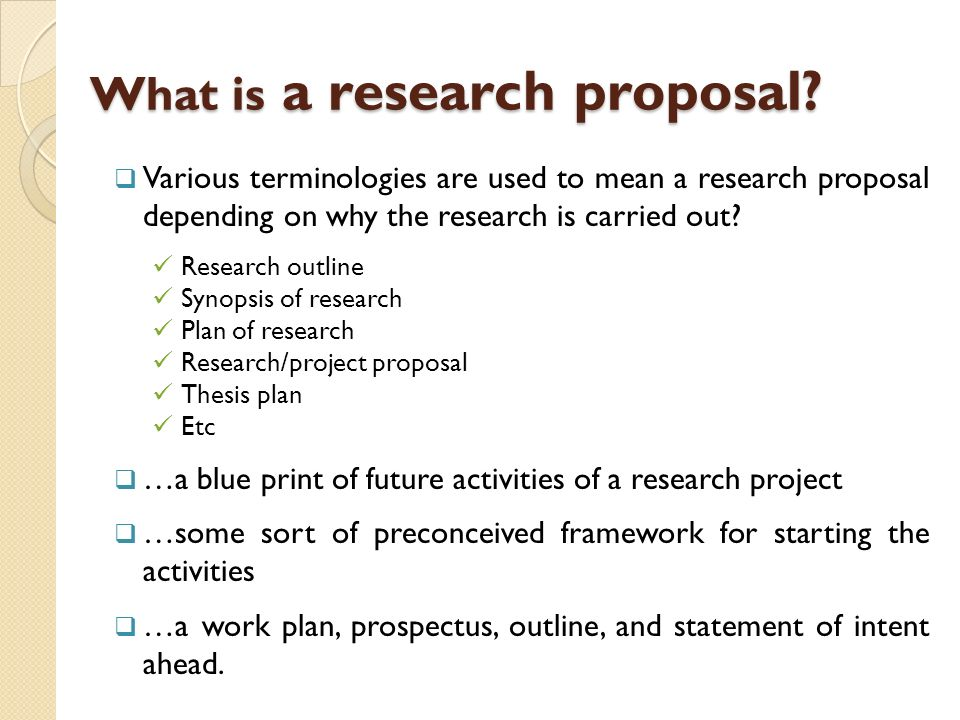 drafting research proposal