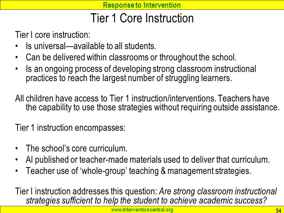 Rti Lab For Secondary Schools Effective Academic Interventions For