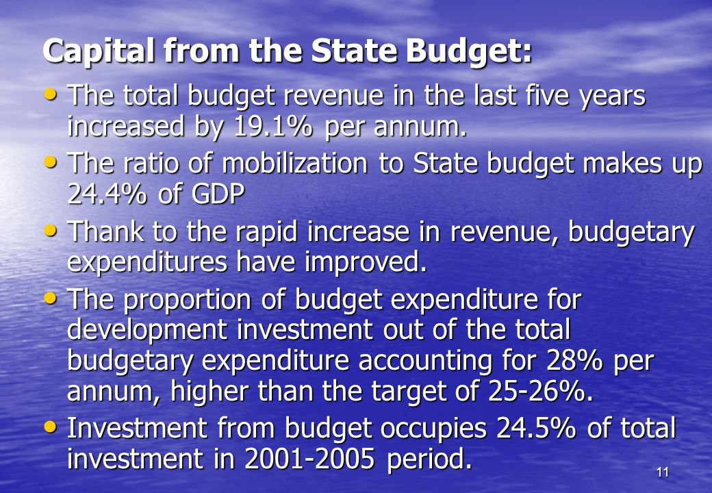 Capital from the State Budget:
