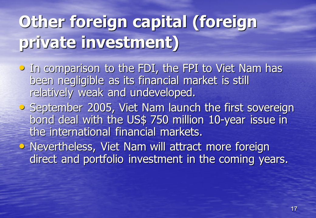 Other foreign capital (foreign private investment)