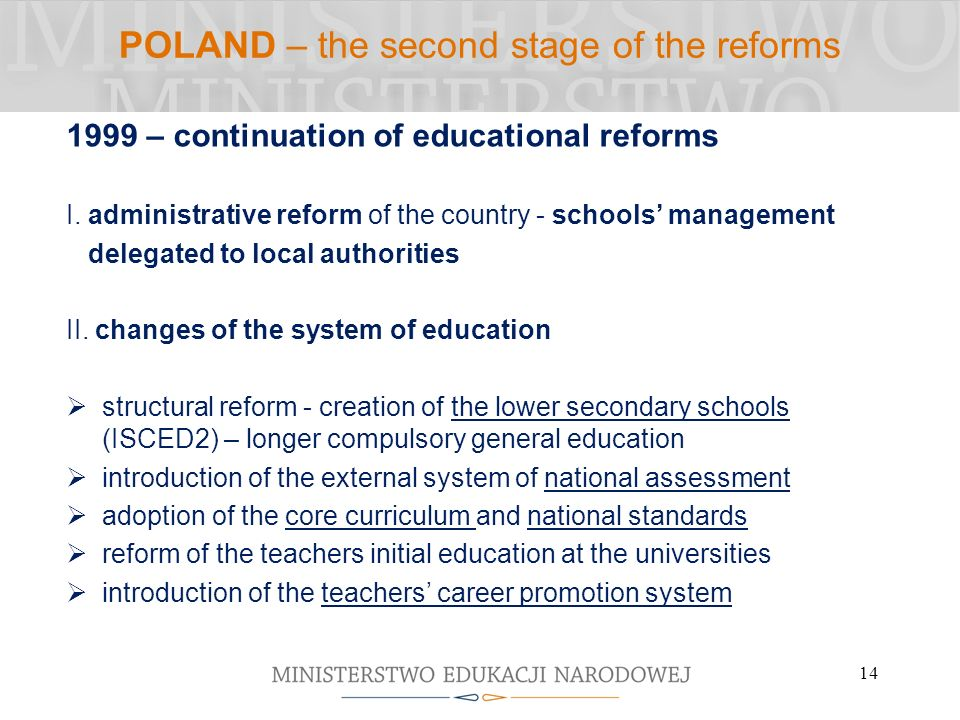 POLAND – the second stage of the reforms