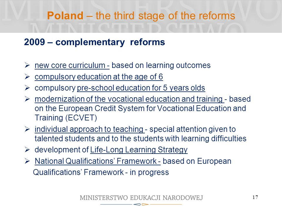 Poland – the third stage of the reforms