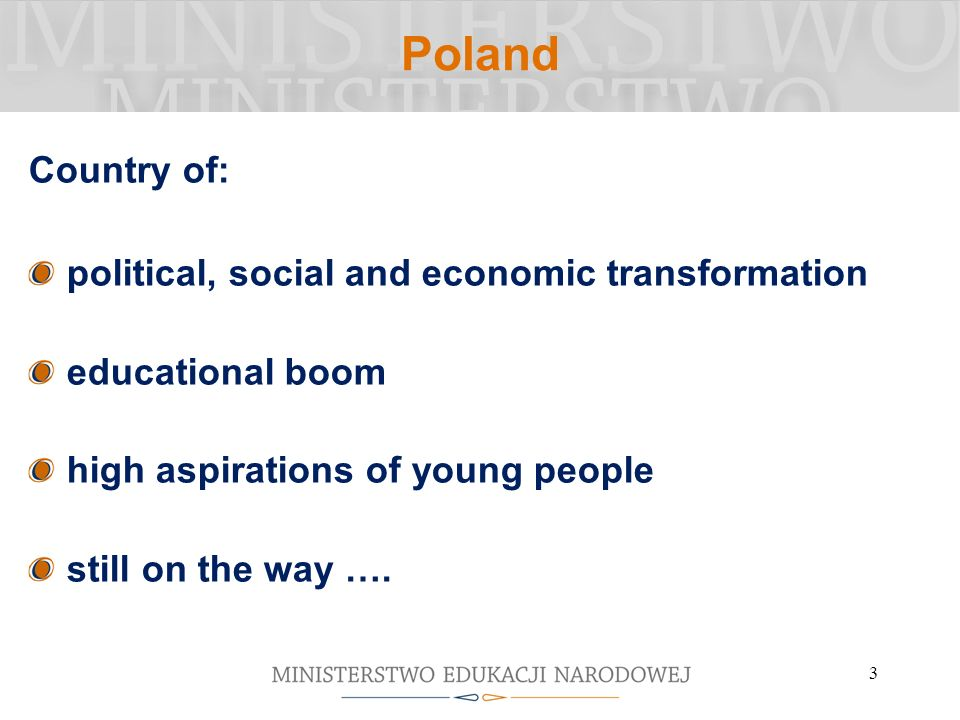 Poland Country of: political, social and economic transformation
