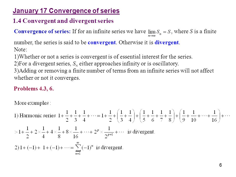 Chapter 1 Infinite Series, Power Series - ppt video online