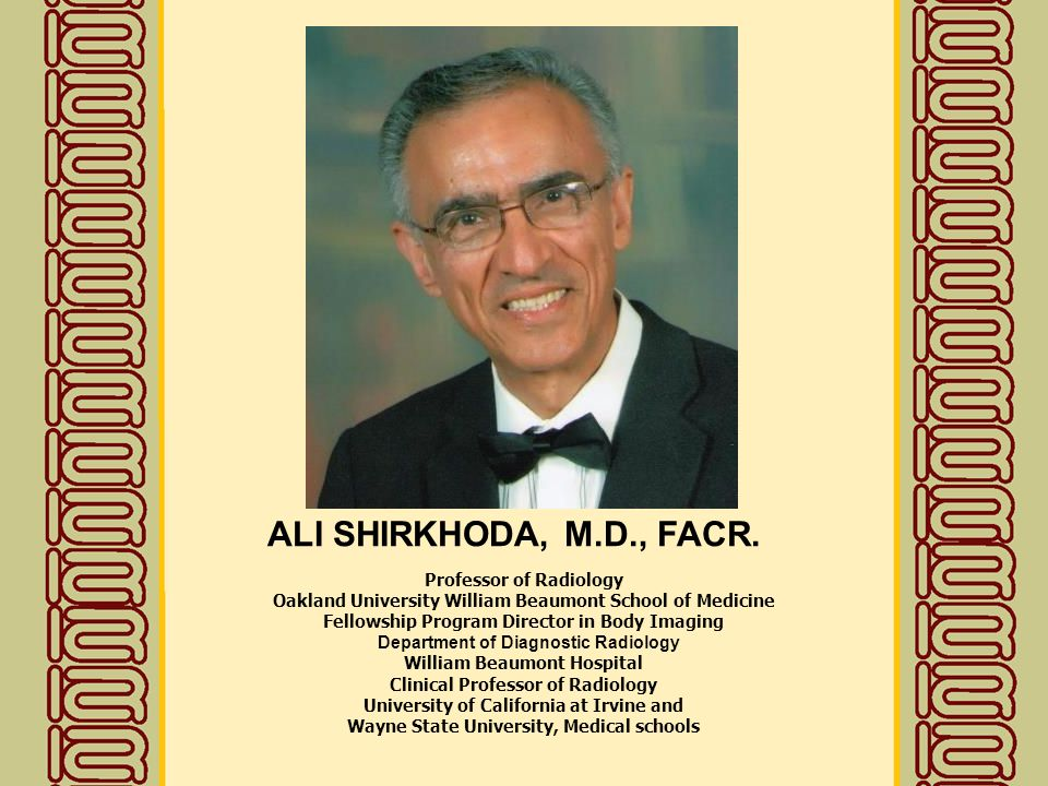 Gold Medalists of Iranian Society of Radiology - ppt video